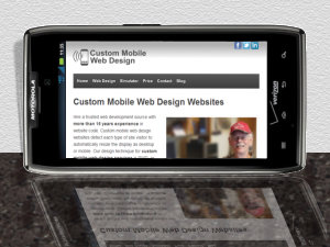 motorola razr maxx view of homepage