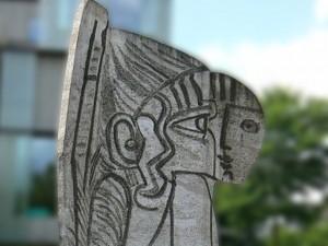 picasso minimalist sculpture sylvette closeup