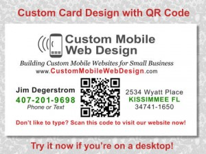 cmwd business card with qr code