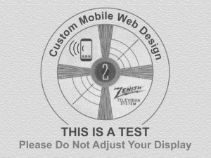 mobile web design test pattern