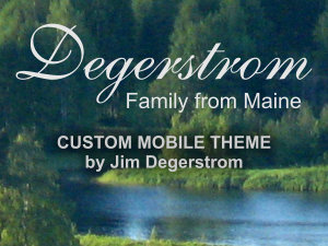 degerstrom genealogy custom theme screenshot
