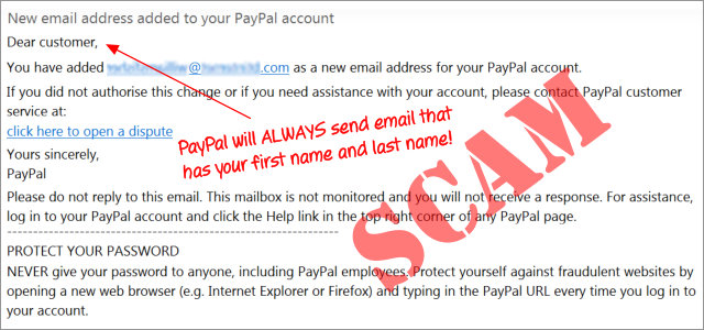 paypal email phishing scam graphic