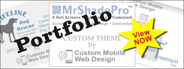 custom mobile web design portfolio