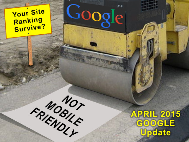 not mobile friendly steamroller graphic