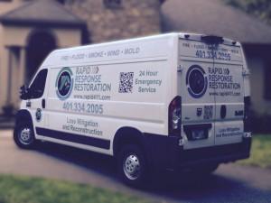 rapid response service van wrap design
